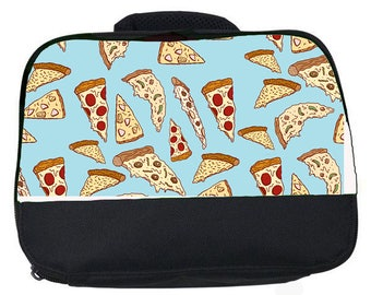 Hot Pizzas canvas lunch bag (perfect for school or nursery)