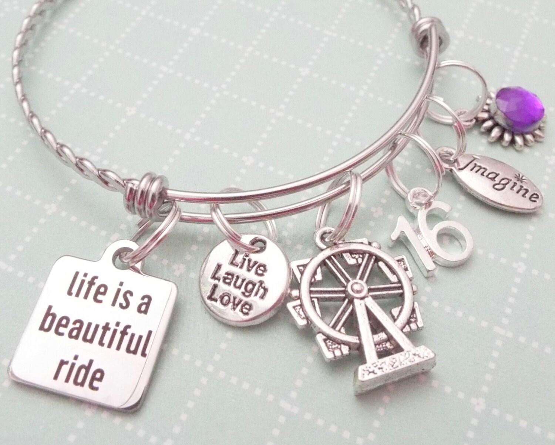 Teenage Girl Birthday Gift, 16th Birthday Charm Bracelet, Personalized  Birthday Birthday Present, Gift For Teenage Girl, Personalized Gift