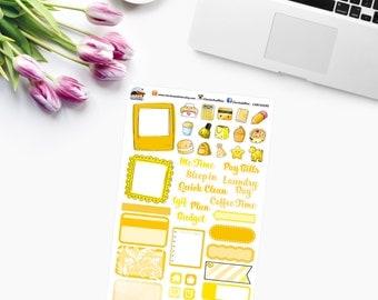 YELLOW RAINBOW SAMPLER Planner Stickers - CAM00292