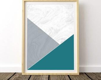 Marble Print, Geometric Poster Art, Marble Wall Art, Nordic Art, Nordic Design, Scandinavian Poster, Geometric Marble Art, Marble Print Art