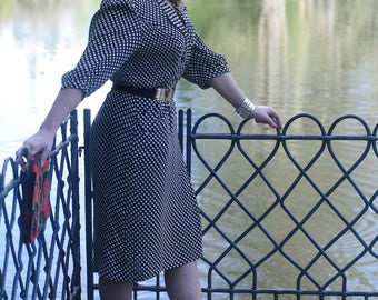 Vintage retro dress 70 and 80 - Made in France