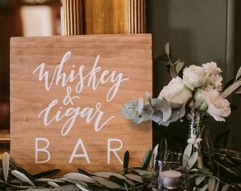 Whisky and Cigar Bar Sign   Bar sign   wedding prop   Event sign   custom sign   gentlemen's bar   photo prop   wedding sign