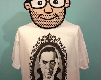 Bela Lugosi / Dracula Horror T-Shirt (Universal Horror / Count Dracula Portrait) - White Shirt