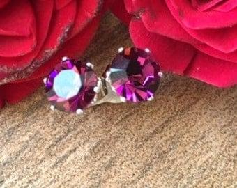 Reduced - Sparkley purple stud earrings