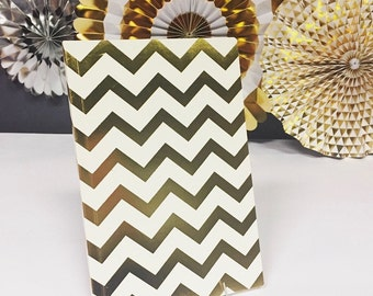 Gold foil chevron notebook