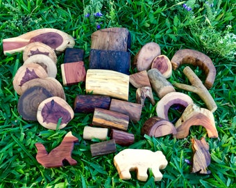 Tree Blocks Forest Friends 32pc - Shipping Included
