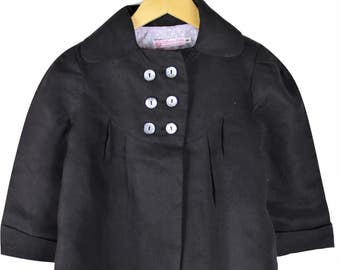 Girls Charcoal linen jacket