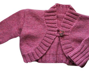 Blossom hand knit cropped cardigan