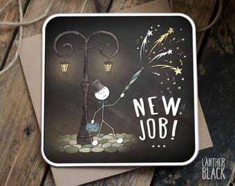 New job card / Congratulations new job / Good luck new job / SM38