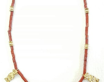 PRE-COLUMBIAN JEWELRY NECKLACE natural stone with motifs