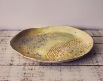 Artisan Cermics - Ceramic Platter - Wheel Thrown Pottery - Pottery Platter - Ceramic Handmade Platter  - Clay Platter - Ceramic Tray