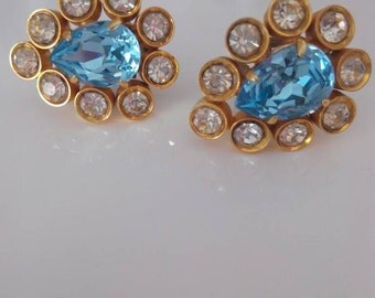 Vintage 80 crystal earrings