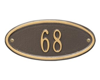Madison Oval Petitie Personalized Address Plaque
