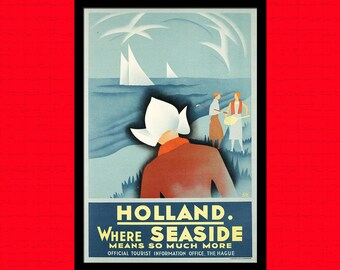 FINE ART REPRODUCTION Holland Travel Print Netherlands Travel Poster Travel   Holland Poster Travel  Art Trave  Dutch Prints