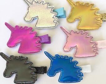Unicorn hair clips, unicorn clips, unicorn clip, pink unicorn, unicorn horn, unicorn baby, unicorn hair clip, unicorn party favors, unicorn
