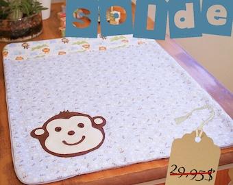 Clearance sale - Baby blanket - monkey - Jungle animals - SALE
