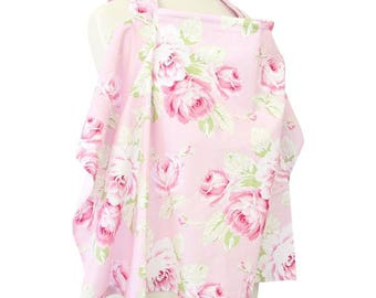 Shabby Chic Roses | Pink and White Nursing Cover