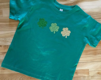 St. Patrick's Day Shirt  |  Shamrocks Glitter Green Shirt  |  St. Patty's Day Shirt |  Shamrock Shirt |  Adult, Youth, Toddler, Infant