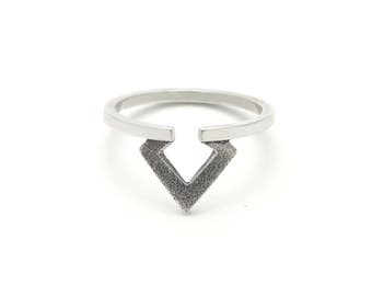 Geometric ring - Sterling silver rings