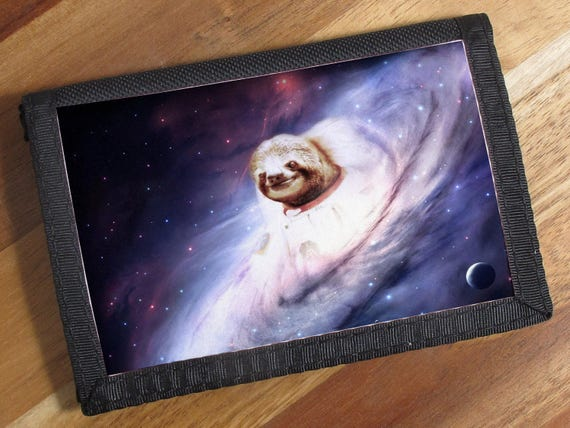 Items similar to Space Sloth Canvas Velcro Fastening Tri ...