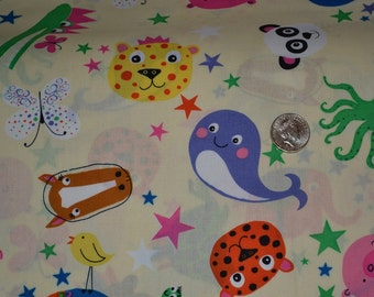 "party animal   fabric  by the yard  54"" wide limited stock"