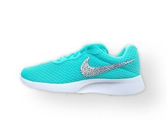 Nike Tanjun Swarovski Bling Shoe - Turquoise