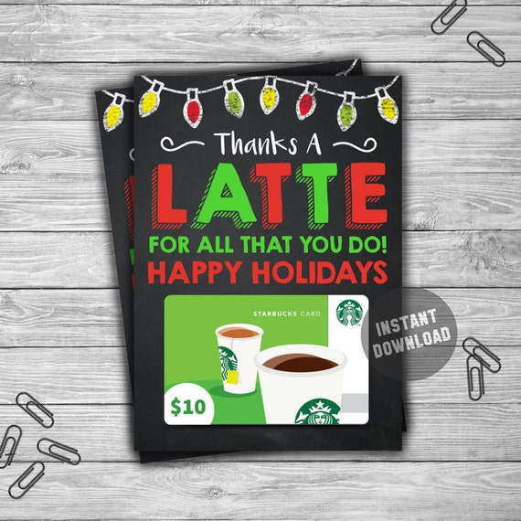 It is an image of Stupendous Thanks a Latte Christmas Printable