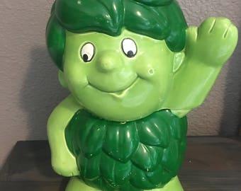Green Giant Cookie Jar, Retro, Kitchen Storage