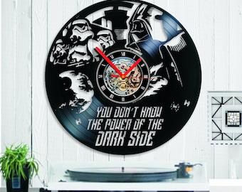 Death star clock etsy - Darth vader wall clock ...