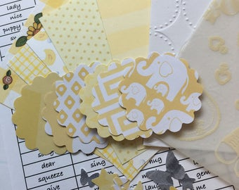 Yellow Pocket Cards Project Life 3x4