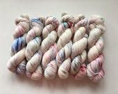 Sock Hand Dyed 80/20 Australian Merino Nylon Revelry Sock 4 ply Fingering Knitting Yarn Shining Monarch