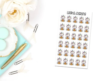 Pizza Unicorn Planner Stickers