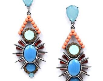 Unique jewel earrings