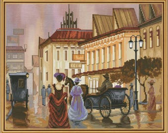 Cross Stitch Kit Evening promenade