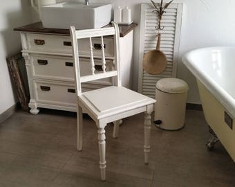 antique chair, Gründerzeit, shabby chic, white
