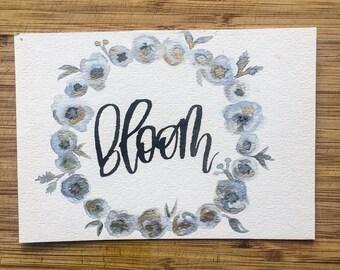 Bloom floral print
