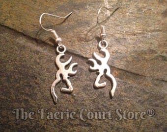 Buck Earrings-Silver
