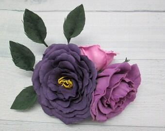 Gift/for/her Flower girl hair Gift/for/sister Flowers/for/hair Hair clip barrette Flower hair clip Wedding hair clip Women hair clips Pink