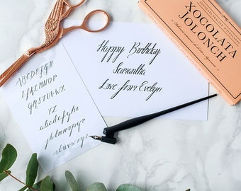 Personalised Birthday Calligraphy Kit