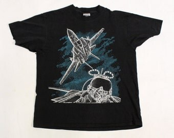 Vintage 1990 F-14 Tomcat Fighter Jet T -Shirt