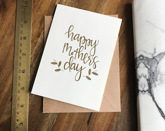 HAPPY MOTHER'S DAY card (gold foil)