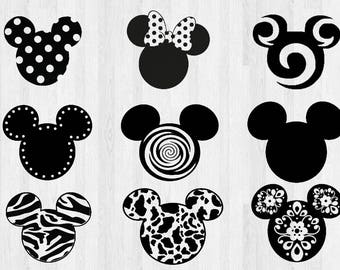 Micky Mouse Ears SVG, DXF, Disney Cutting File svg, Micky Mouse Ears svg, Magic Kingdom, Disneyland, png, silhouette cameo, cricut, transfer