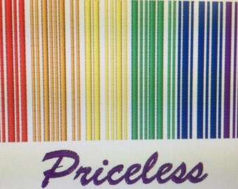 Priceless Rainbow barcode embroidered Pocket Cloth diaper