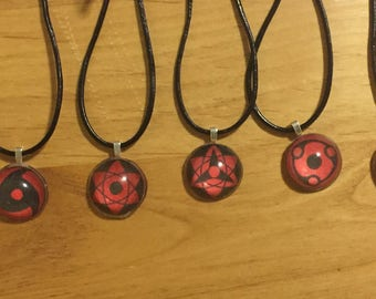 Naruto Themed Sharingan Necklace