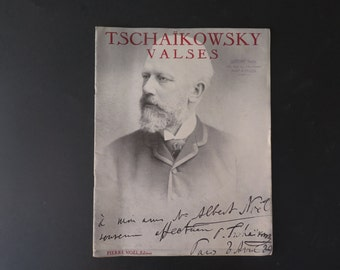 Musical score for Tschaikowsky Valses (waltz), Paris, early XX century