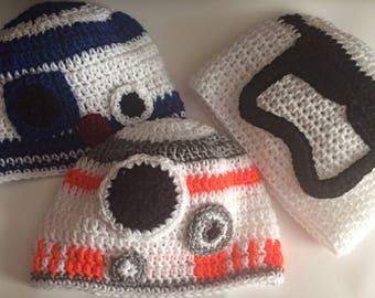 Star Wars Beanies // R2-D2 // BB-8 // Stormtrooper // Leia bun beanie