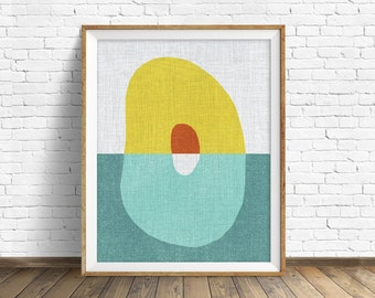 "mid century modern art, mid century modern wall art, large art, printable art, instant download, large wall art, abstract art - ""Pods No. 5"""