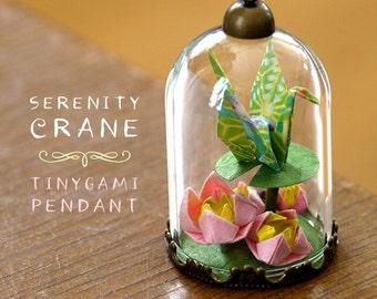Serenity Crane Origami Pendant