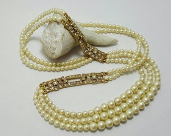 1928 Deco Style Pearl Necklace (reserved)