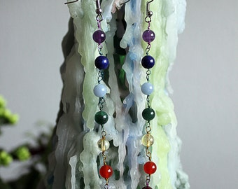 Long Chakra Earrings